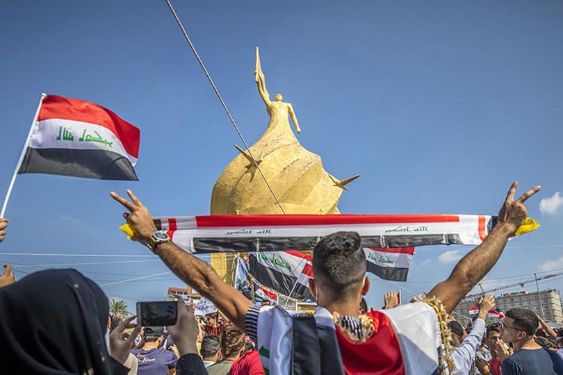 شباب ساحة الأحرار في كربلاء يقيمون مهرجانا للشهداء