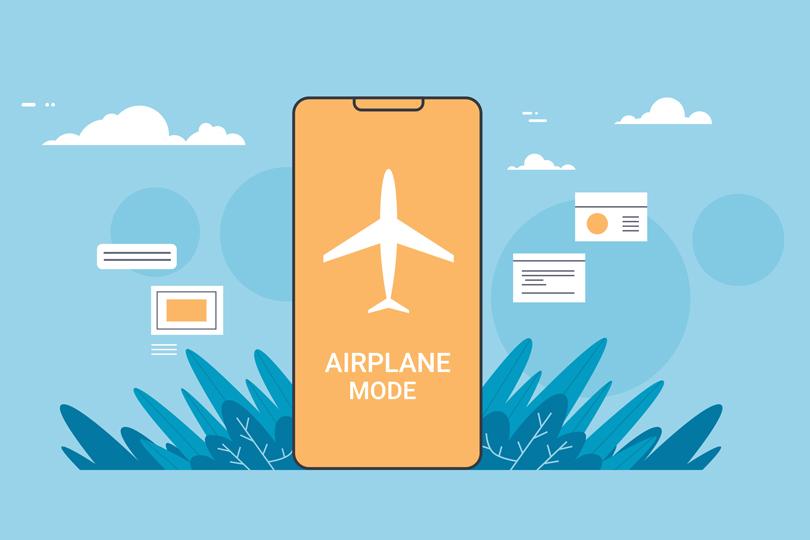 هل ضبط هاتفك على وضع الطيران يقلل من أضراره؟