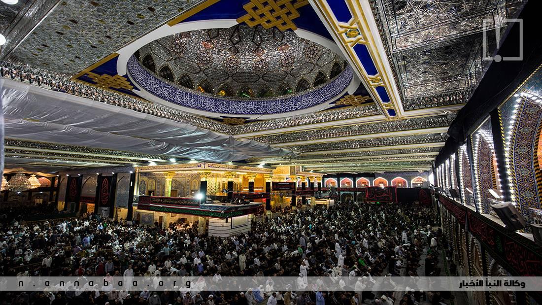 الجموع الغفيرة المشاركة في مراسيم ليلة الأول من محرم الحرام