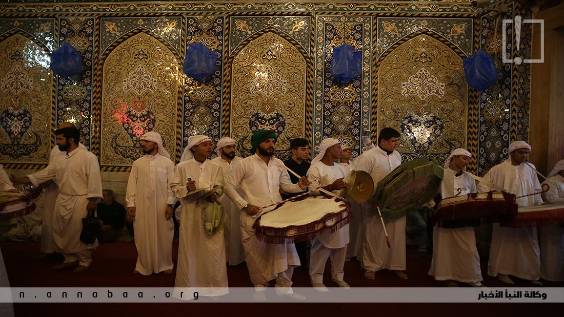 صور من العزاء المشهور زفة القاسم في مدينة كربلاء المقدسة