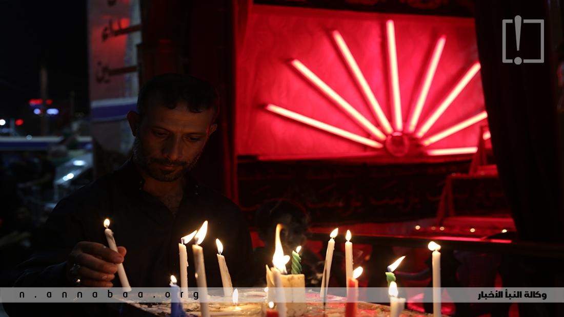في كل عام يجتمع المؤمنون لاحياء ليلة الوحشة عند قبر سيد الشهداء