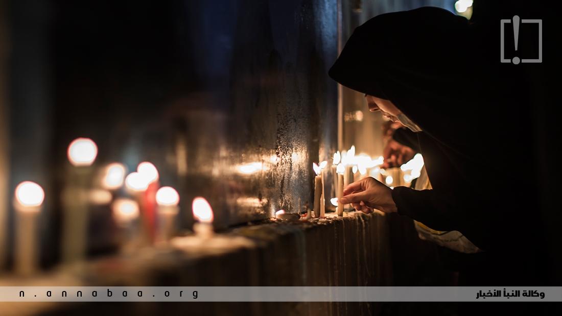 تعبيراً عن مواساتهم لجده الرسول محمد (ص) وابيه امير المؤمنين الامام علي بن ابي طالب (ع) وام الزهراء فاطمة (ع) واخيه الحسن (ع)
