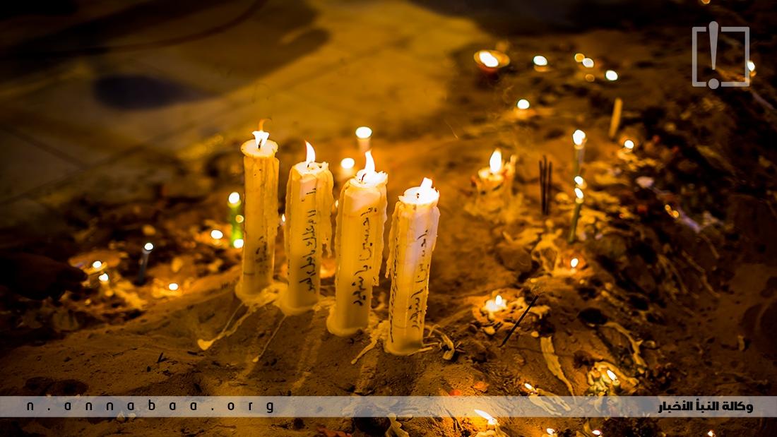يوقد فيها الموالين والمحبين لاهل البيت الاف الشموع قرب مرقد الامام الحسين (ع)