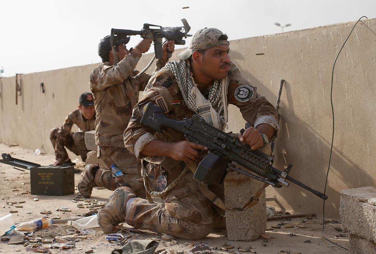 (صورة 8) قام جهاز مكافحة الارهاب باغلب عمليات التحرير في الجانب الايسر