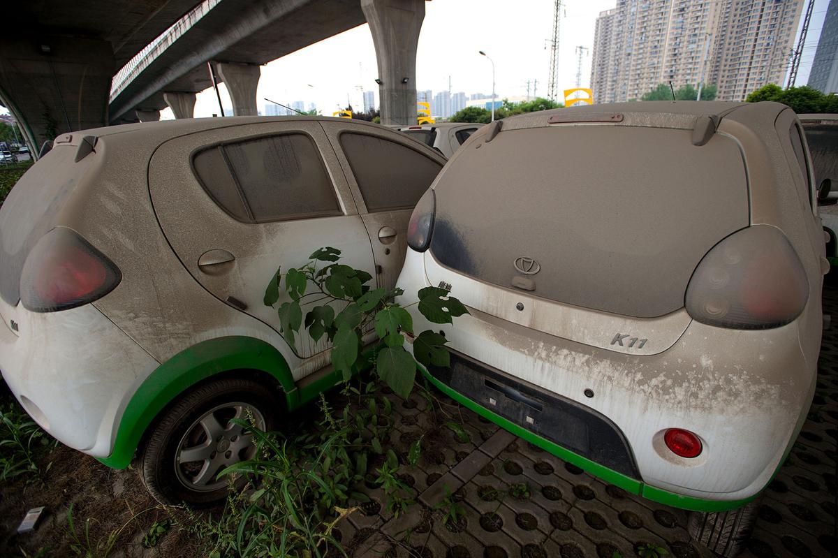 سيارات كهربائية مهجورة في الصين