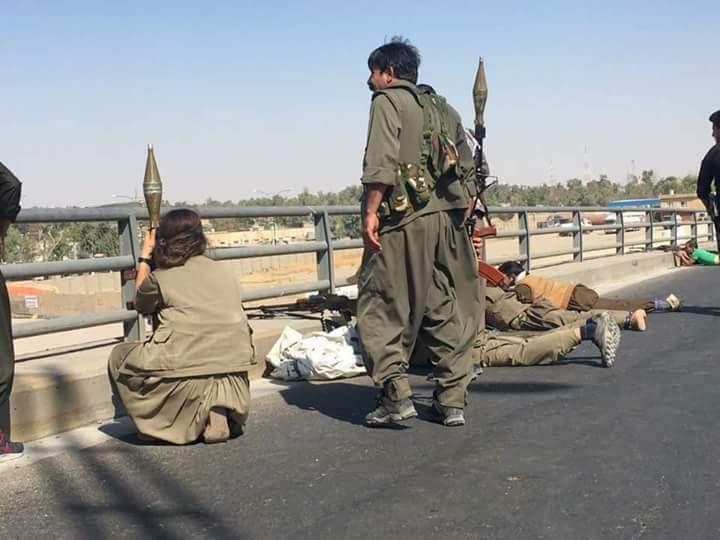 استقدم بارزاني المئات من عناصر حزب العمال الكردستاني وحزب الحياة الحرة الايراني وميليشيات سوريا الديمقراطية السورية