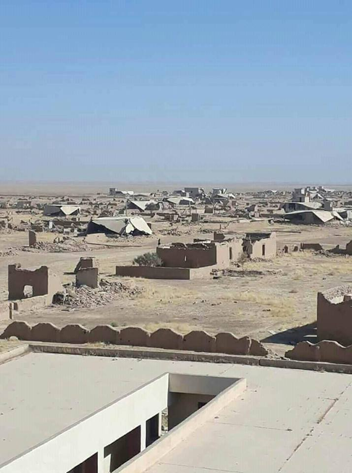 قرية الچري، ناحية الشمال، قضاء سنجار، من قرى عشيرة البوسالم الجحيش أكثر من (200) مائتي منزل تم تدميرها من قبل بيشمركة الديمقراطي.