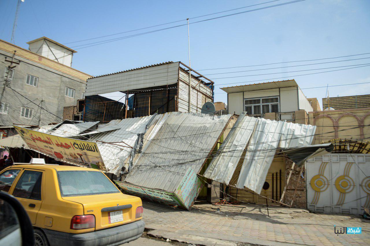 عواصف ترابية ضربت المحافظات الجنوبية وخاصة كربلاء ومدن الفرات الاوسط.